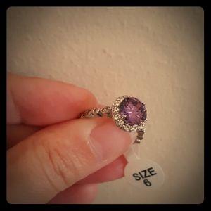 BEAUTIFUL Purple Cocktail Ring